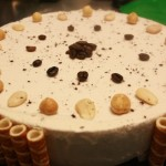 Torta gelato, caffè bianco, mandorla e nocciola